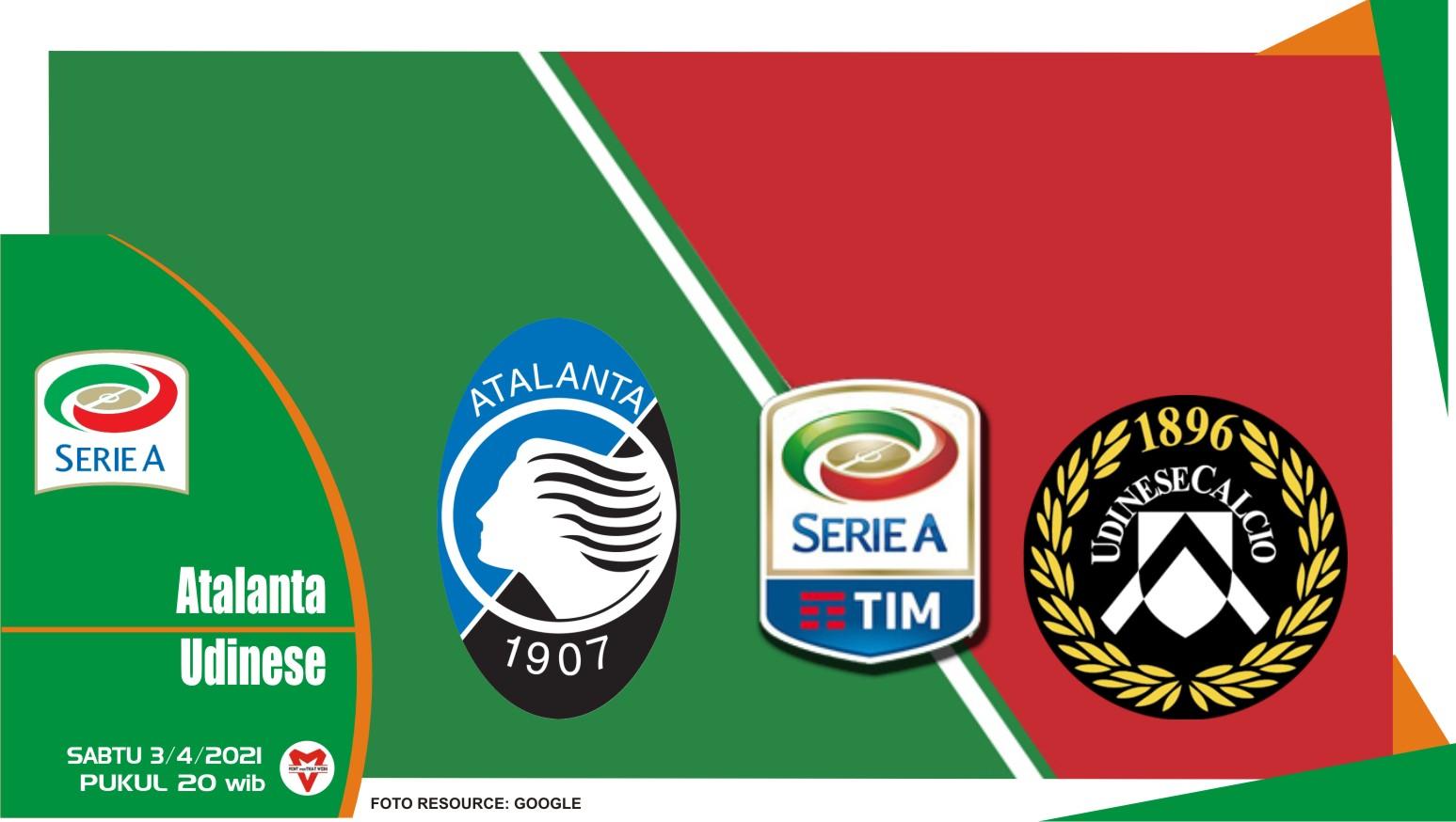 Prediksi Liga Italia: Atalanta vs Udinese - 3 April 2021