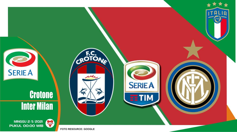 Prediksi Liga Italia: Crotone vs Inter Milan - 2 Mei 2021