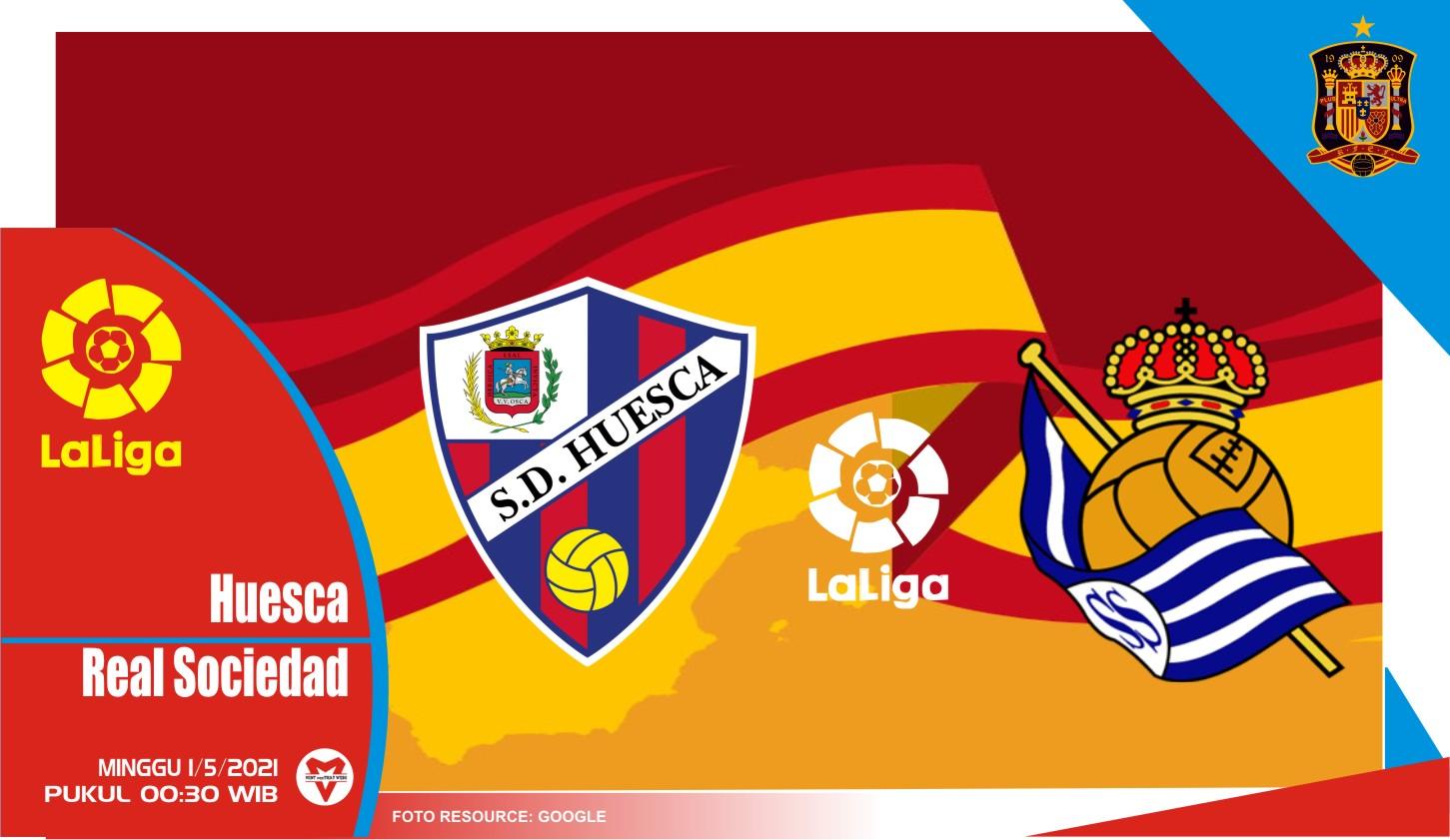 Prediksi Liga Spanyol: Huesca vs Real Sociedad - 2 Mei 2021