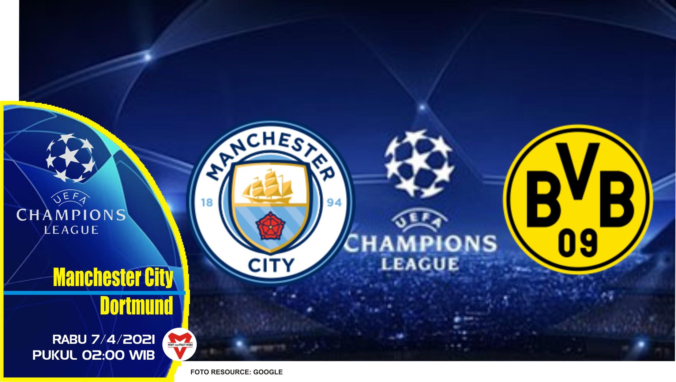 Prediksi Liga Champions: Manchester City vs Dortmund - 7 April 2021
