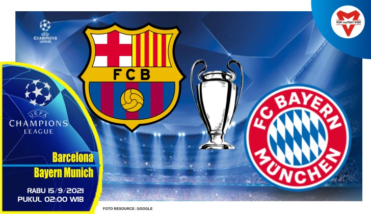 Prediksi Barcelona vs Bayern Munich - Liga Champions 16 September 2021